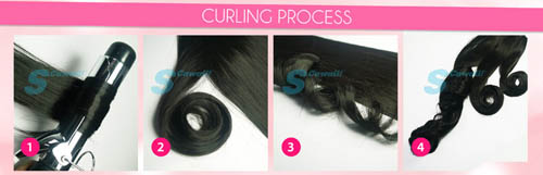 Synthetic Hair Curling Guide